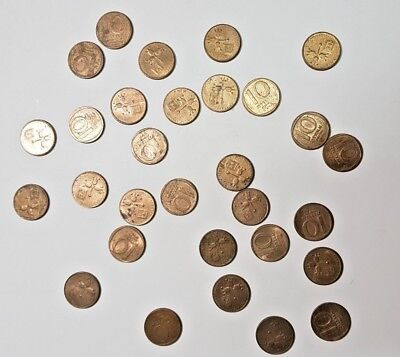 Coin From Israel -Lot of 30 Coins 10 Agorot 1980 th