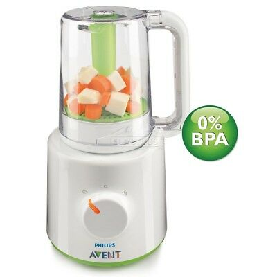 Philips AVENT combined baby food steamer and blender processor BNIB
