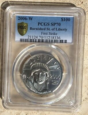 2006-W Burnished Platinum Eagle PCGS SP70 FIRST STRIKE LOW POP