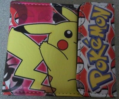 Pokemon Pikachu Red Bi-fold Wallet With Snap New Without Tags