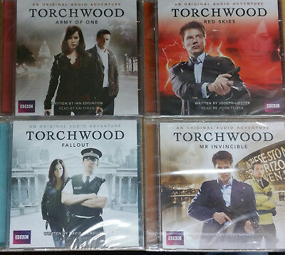 Torchwood - Captain Jack Harkness - 4 Audio Cd's - Red Skies Fallout Army Of One