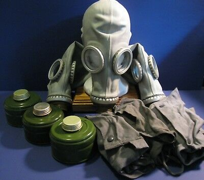 Three Soviet Russian Gas mask GP-5 Air Filter Bag USA Seller Fast Delivery Lot 1