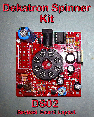 Dekatron Spinner Kit - Variable Speed - Parts & PCB - 12V in (No Tube) DS02
