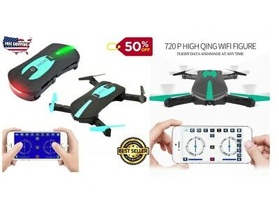 DRONE720X RC Helicopter Drone Quadcopter 720P HD Camera Wifi Selfie Control ToyS