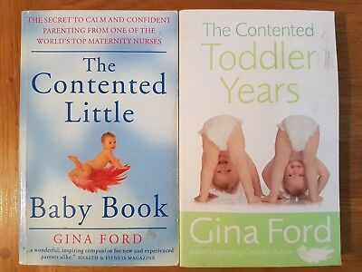 The Contented Little Baby Book & The Contented Toddler Years Gina Ford Parenting