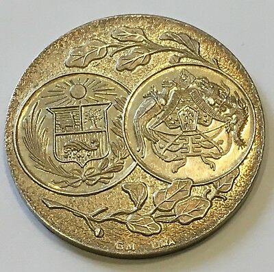 CHINA. Colonists' Centennial of Peruvian Independence Silver Medal, 1921 BU