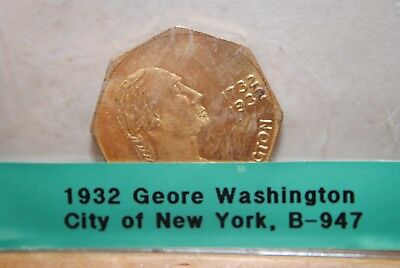 1932 George Washington Birth Bicentennial - New York City - B-947