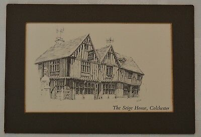 The Seige House, Colchester Essex Drawing, Print not a postcard
