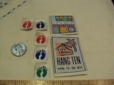 Hang Ten Unused  Designer Labels Sport Made in the USA lot of 7 Cloth