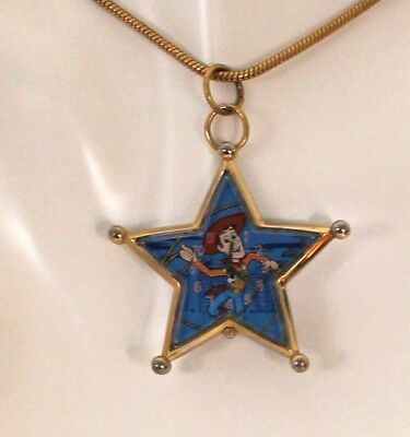 Vintage Woody character watch necklace