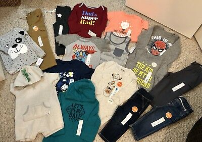 Large Lot Of Baby BOYS Clothes Mixed Sizes 18M, 24M, 2T All New W/tags