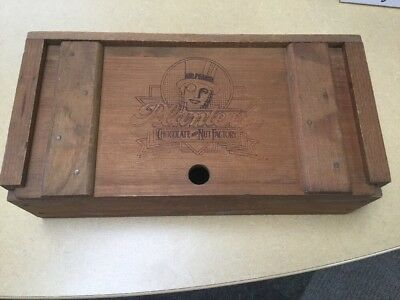 Planters Peanuts Chocolate And Nut Factory Wooden Box Made By Gideon-Anderson