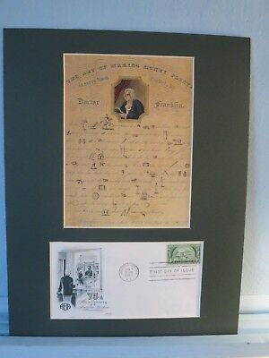 Ben Franklin - Making Money & American Bankers Association  First day Cover