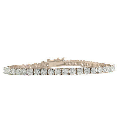 4.55 Carat Natural Diamond 14K Solid Rose Gold Tennis Bracelet