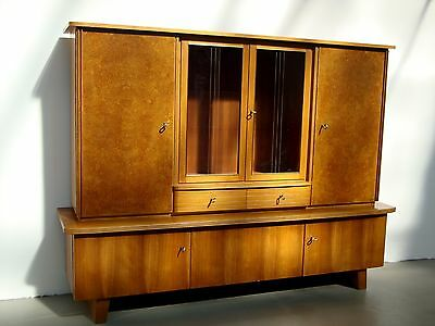 Sideboard highboard kommode vitrinenschrank 50er jahre for Sideboard vollholz