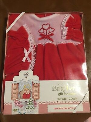 Baby Terry Vintage Infant Gown Gift For Baby With Cap