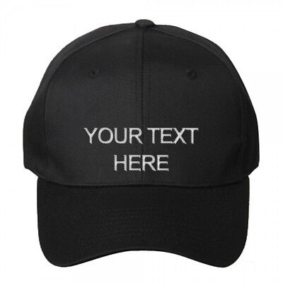 Custom Personalized Embroidered Text on Dad Hat Cap Snapback Folded Brim - New