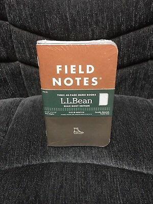 Field Notes x LL Bean BOOT Edition SEALED 3-Pack Memo Notebooks Pads