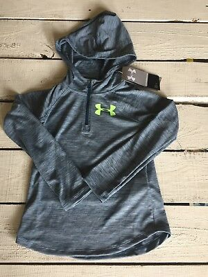 NWT Under Armour loose heat gear hoodie grey sz youth S long sleeved lightwt