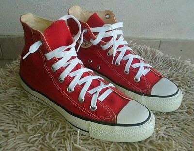 Vtg  Converse Chuck Taylor Usa  Sneakers Red Canvas Sz 6 Men 8 Woman.