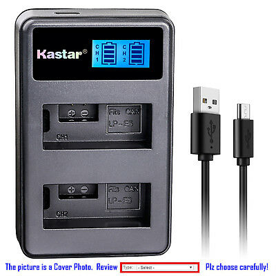 Kastar Battery LCD Dual Charger for Canon LP-E5 LC-E5 Canon EOS Rebel Xsi Camera