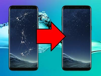 Samsung Galaxy S8 Cracked Screen Glass Repair Replacement Mail In Service