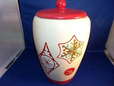 Things Go Better With Coke Vintage Christmas Ornament Cookie Jar with Lid