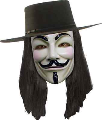 V for Vendetta Anonymous Wig Fancy Dress Halloween Adult Costume Accessory