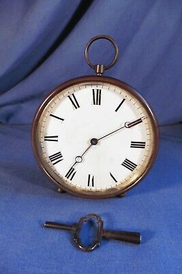 Antique French Drum clock with Porcelain Face - working
