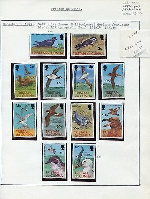 Weeda Tristan da Cunha #222-235 VF MNH 1977 Definitive QEII Birds issue CV $13