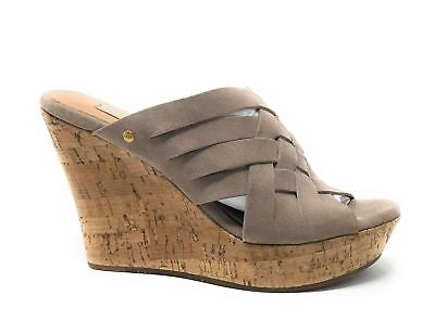 0ae5e43a8a1 UGG WOMENS MARTA Wedge Sandal Woven Horchata Suede Size 9 M - $49.59 ...