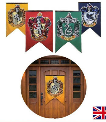 """Harry Potter Hogwarts House Wall Banners Set of 4 Flags 50"""" x 30"""" With 4 Colors"""