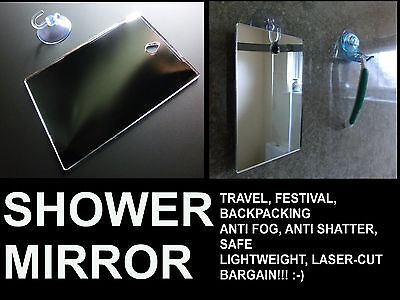**Shower Shaving Mirror, DISCOUNT for Imperfections,Strong Shatter Proof,NO Hook