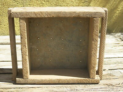 Vintage Wooden Rustic Adobe Brick Mold - Large Brick With Handles - New Mexico