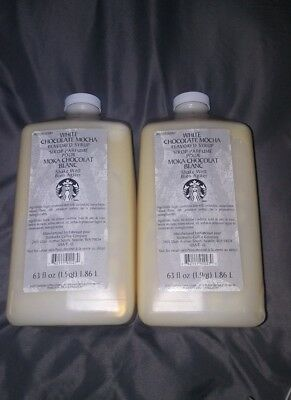 Starbucks White Chocolate Mocha Syrup 63 Ounce 2 pack Free Shipping Home Coffee
