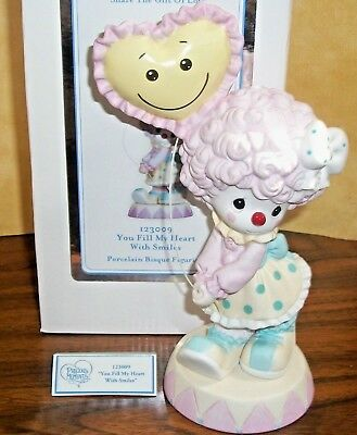 PRECIOUS MOMENTS You Fill My Heart with Smiles Girl Clown Figurine, BRAND NEW!!