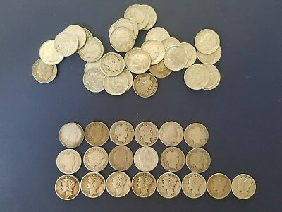 ROLL (50) OF Mix SILVER  DIMES, Rosies, Merc, Barber See Pictures *Rare*