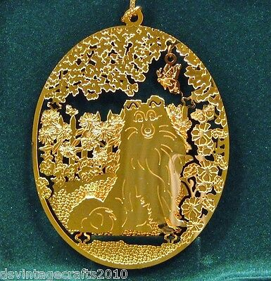 Sheltie/Shetland Sheepdog 24k Gold Plated Ornament New By Kingsheart Forge