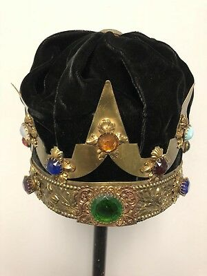 1920-30' Scottish Rite Regalia Crown wMulti Color Jewels.Renaissance Medieval.