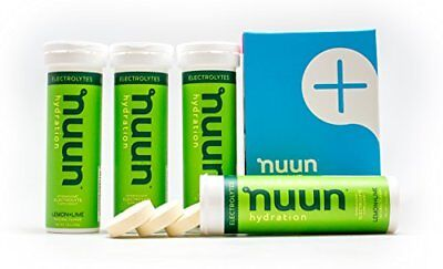 Nuun Hydration: Electrolyte Drink Tablets, Lemon Lime, Box of 4 Tubes (40  servi