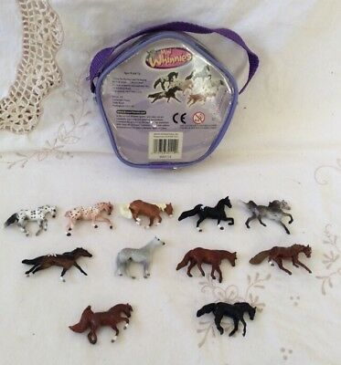 Breyer Mini Whinnies~lot Of 11 With Carrying Case Appaloosas, Ect...
