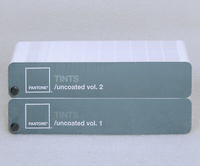 Pantone TINTS Guide UNCOATED Vol 1 & 2 with Case 1,114 Colors Tinted 10% to 80%