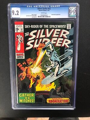 Silver Surfer 12 !! Cgc 9.2 !!! Stan Lee Fav !!  White  Pages !! Wow !