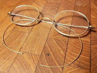 Beautiful Antique 14K Gold Vintage Wire Frame Eye Glasses Eyeglasses