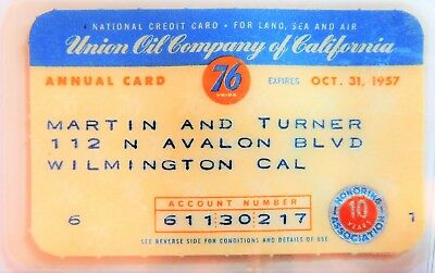 Union Oil Co.  1957  Laminated As Made-  Very Rare