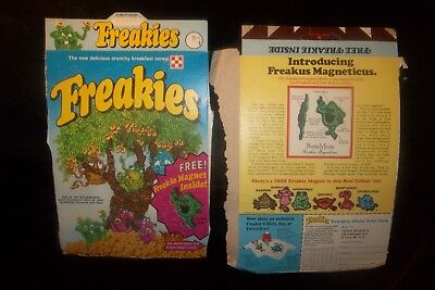 Vintage 1974 Ralston Purina Co Freakies Cereal Freakie Magnets Box Panels