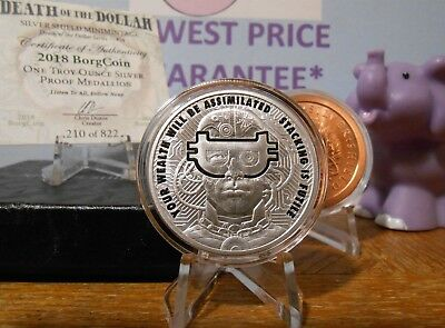 2018 BorgCoin Proof Death Of The Dollar Series FREE MiniMintage Copper Round