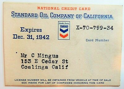 Standard Oil Of California 1942  With Original Calendard Plastic Sleeve
