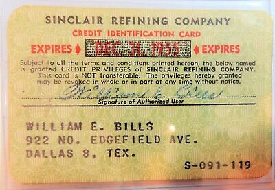 Sinclair Refining Company 1955 Paper Card