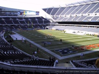 2 Green Bay Packers vs Chicago Bears 12/16 Tickets 3rd Row Sec 256 Solider Field